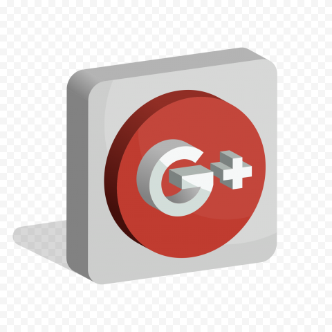3D Google Plus G  Square Icon