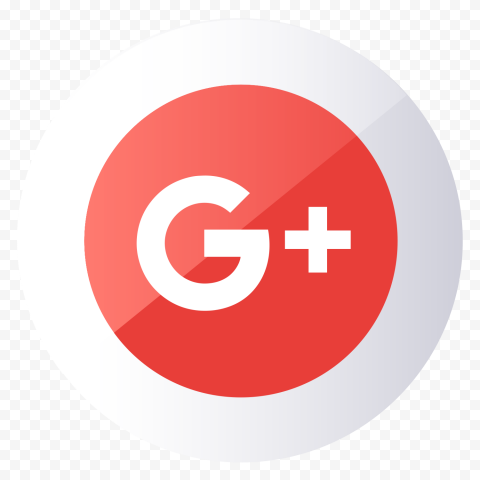 Round Flat Vector Illustration G  Google Plus Icon
