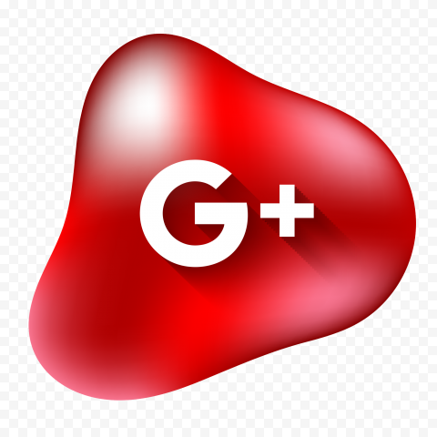 Google Plus G Icon Red Fluid Drop Style