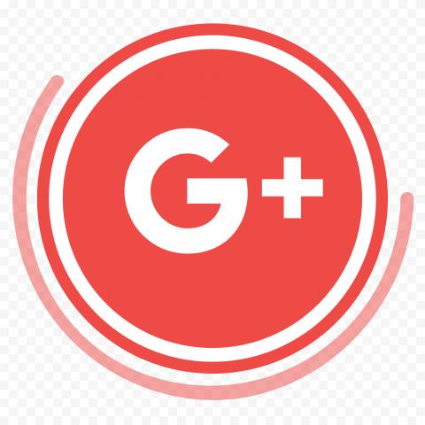 Creative Google G Plus Red Round Circular Icon