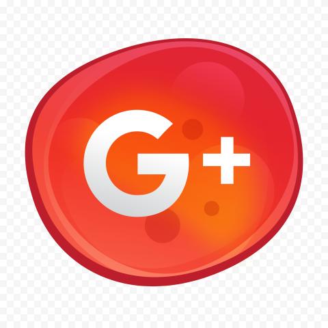 Google Plus G Icon Red Bubble Illustration Style