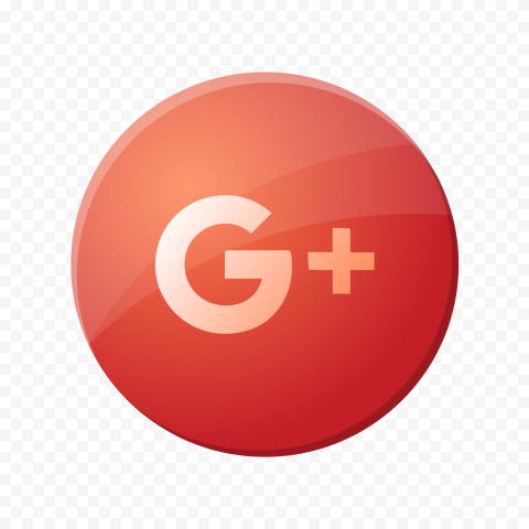 Google Plus Round Badge Icon