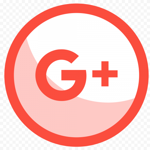 Google Plus Round Circle Red Icon