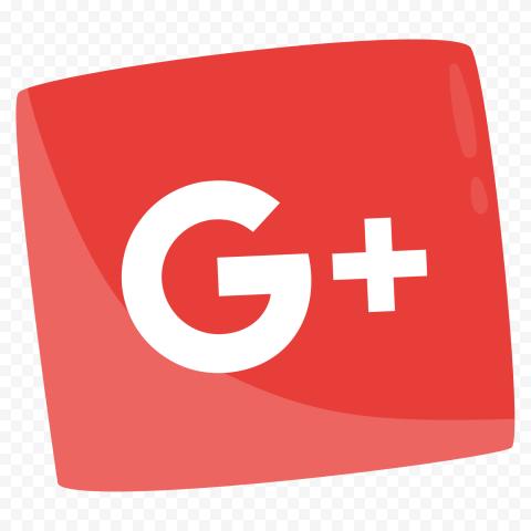 Google G Plus Red Square Icon Illustration Design