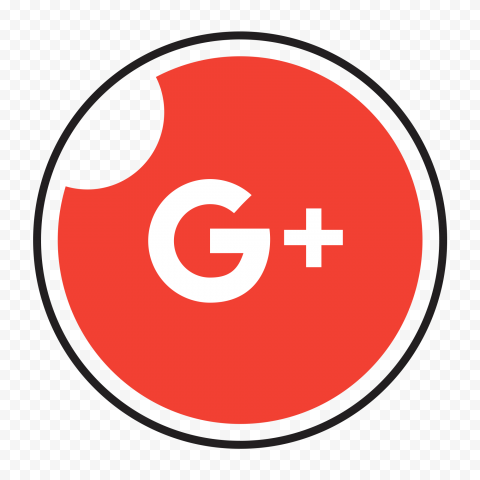 Circle Icon Contains White Google Plus Logo