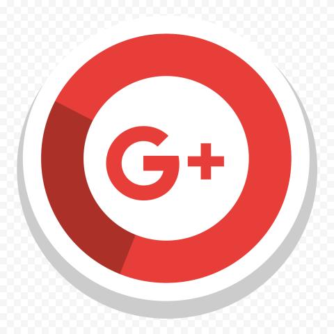 Round Google Plus Icon Illustration Vector Style