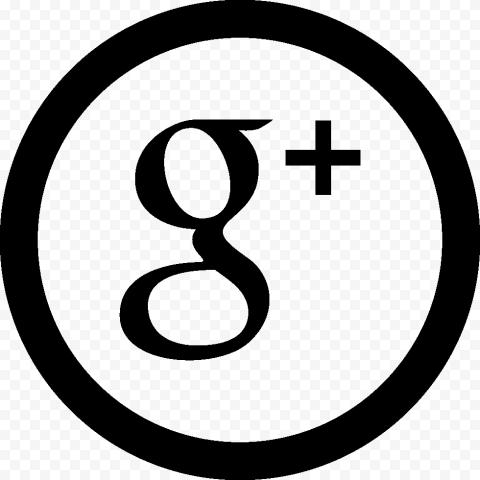 Round Circle Outline Black Google Plus Icon