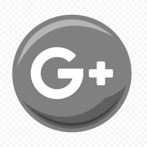Gray & White Illustration Round Google Plus Icon