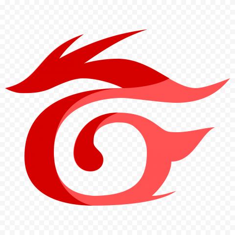 Red Garena Dragon Illustration Logo Symbol Icon