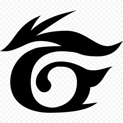 Black Garena Dragon Logo Symbol Icon