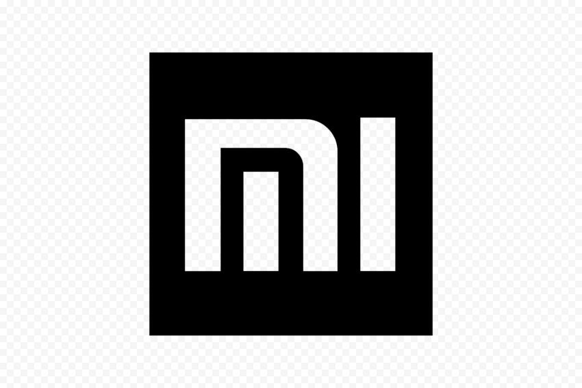 Black Outline Square Mi Xiaomi Symbol Logo Icon