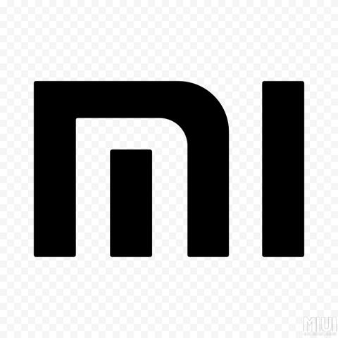 Black Mi Xiaomi Icon Logo