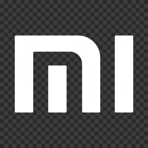 White Mi Xiaomi Icon Logo
