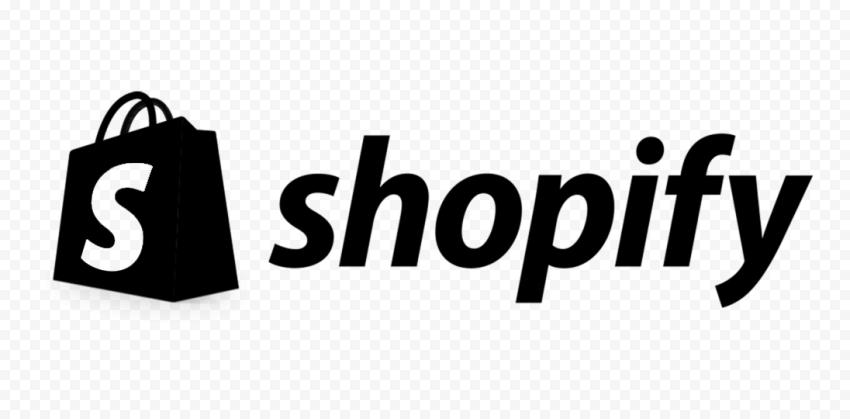 Black Shopify Ecommerce Logo