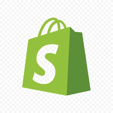 Shopify Outline Bag Icon Symbol Logo