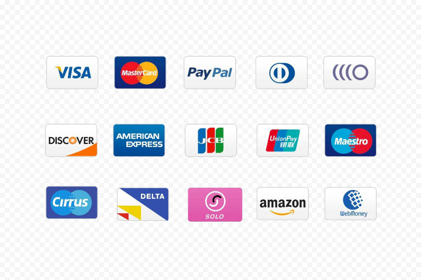 Online Payments Cards Options Icons