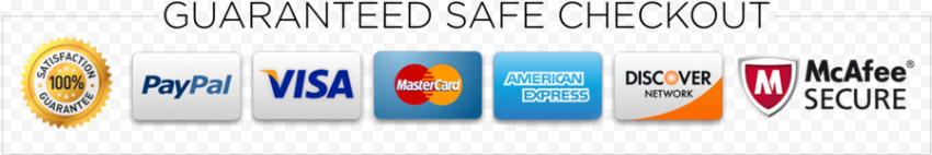 HD Guaranteed Safe Checkout Payments Badge Icons