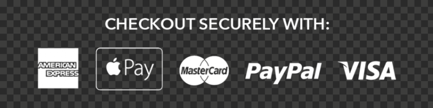 White Checkout Securely Badge Payment Icons