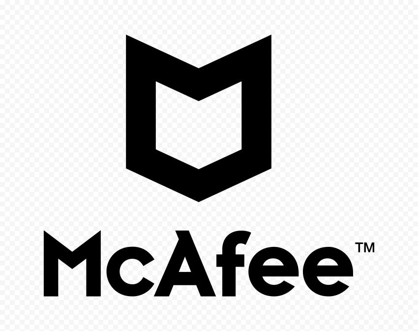 Black McAfee Logo Vector