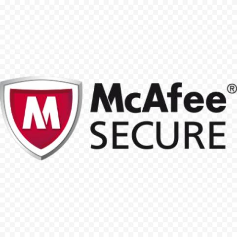 McAfee Secure Badge Logo Security Antivirus