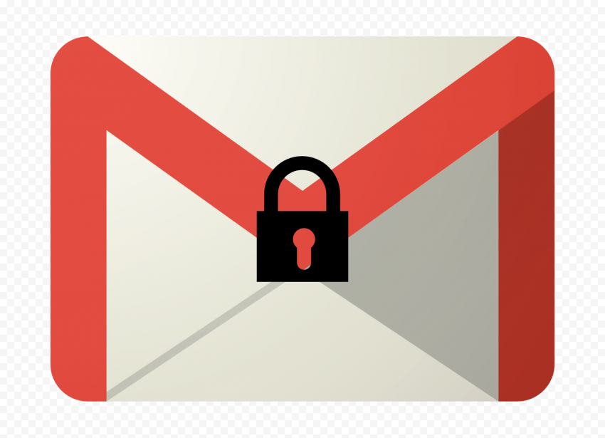 Encrypted Email Gmail Envelope With Lock Icon