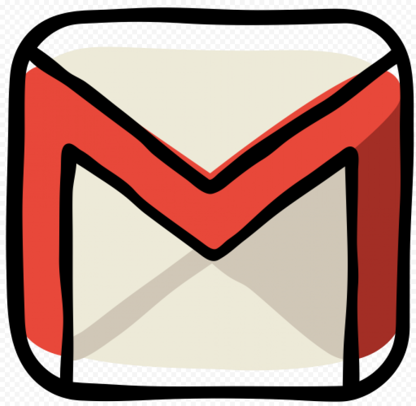 Gmail Envelope Hand Drawn Doodle Style Icon