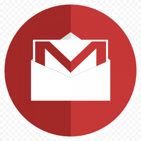 Round Gmail Envelope Mail Email Icon