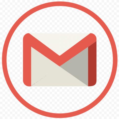 Flat Round Icon Contains Gmail Logo