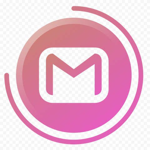 Pink Round Gmail Clipart Icon Logo