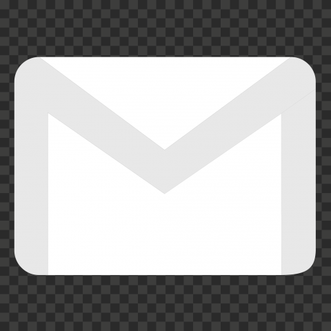 White HD Gmail Envelope Symbol Logo Icon