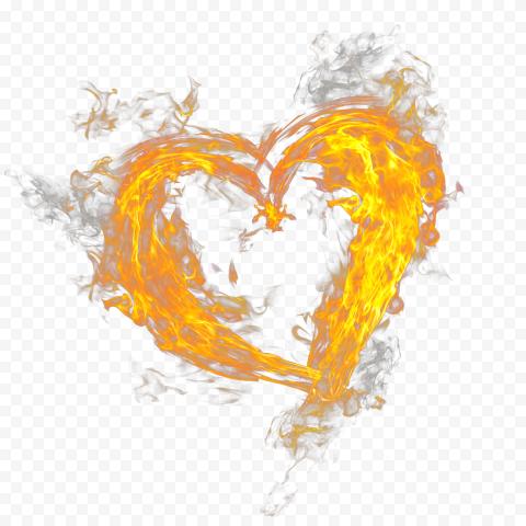 Heart With Fire Border Burning Love Broken