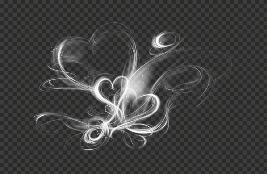 White Smoke Hearts Love Cloud