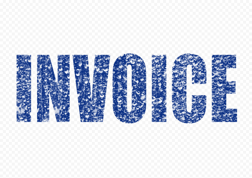Blue Business Invoice Word Stamp Effect