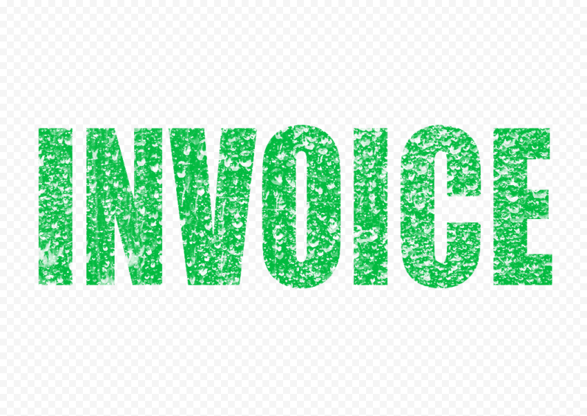 Green Business Invoice Word Stamp Effect