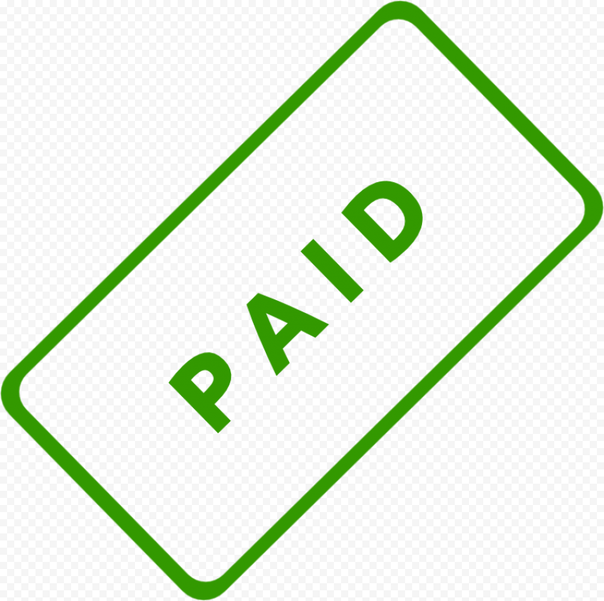 Green Paid Stamp Icon