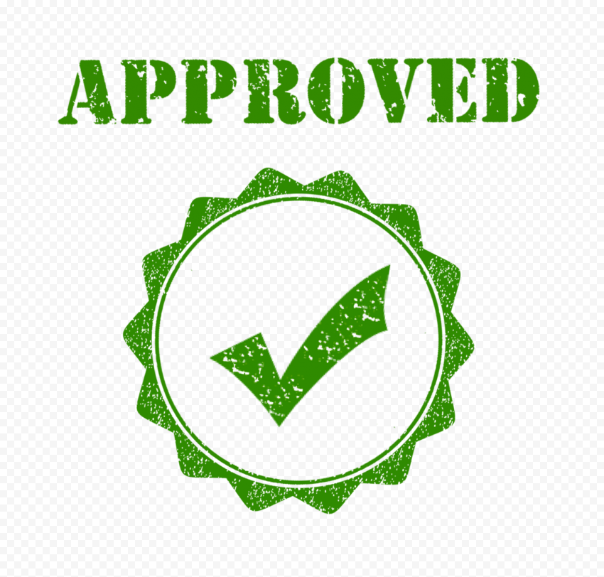 Green Approved Stamp Postage Business Icon