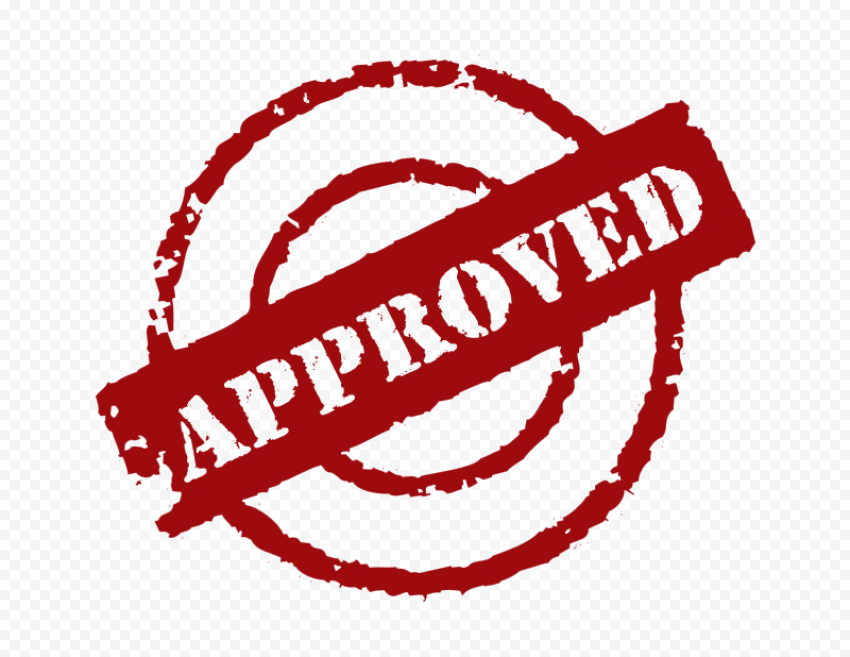 Red Round Approved Stamp Icon