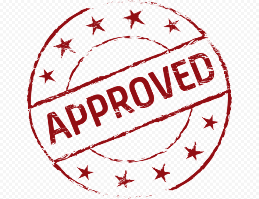 Red Circular Approved Stamp Icon