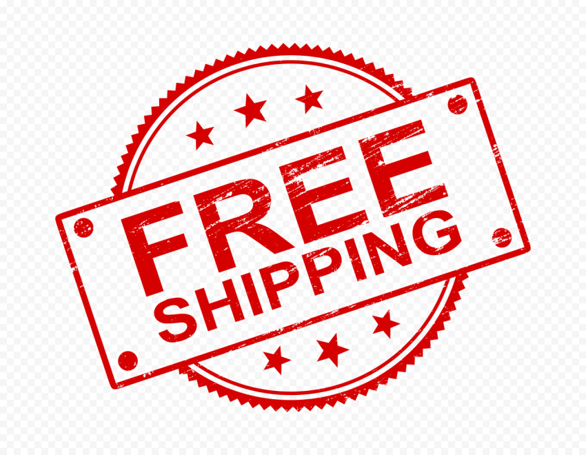 Red Round Free Shipping Stamp