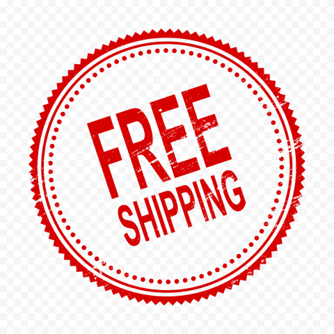 Free Shipping Round Red Stamp
