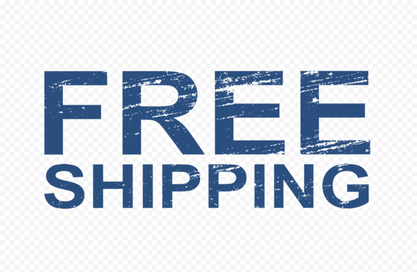 Blue Free Shipping Word Stamp Style Effect