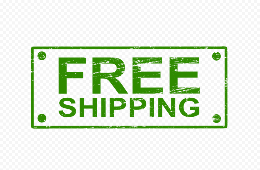 Green Rectangular Free Shipping Stamp