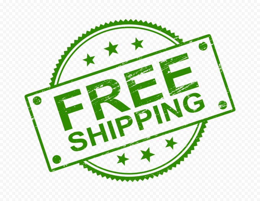 Green Round Free Shipping Stamp