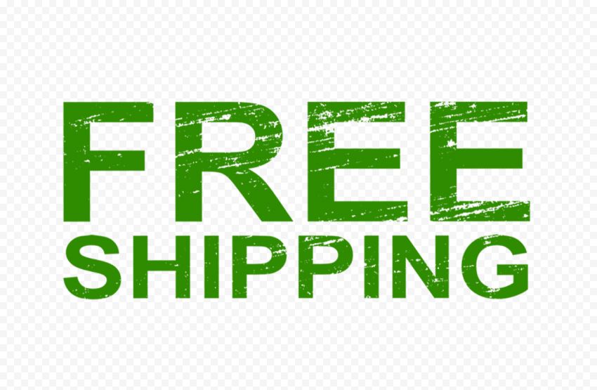Green Free Shipping Word Stamp Style Effect