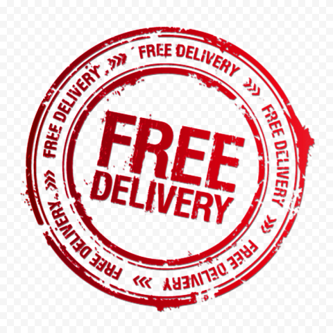 Round Free Delivery Stamp