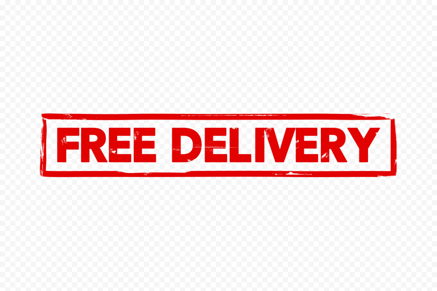 Free Delivery Rectangular Stamp Icon