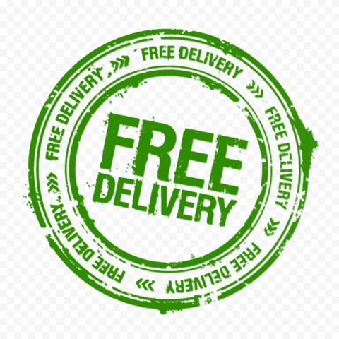 Green Round Free Delivery Stamp