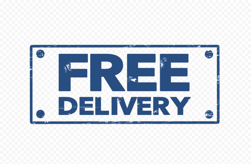 Blue Rectangular Free Delivery Stamp