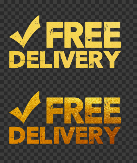 Gold Golden Yellow Free Delivery With Check Stamp