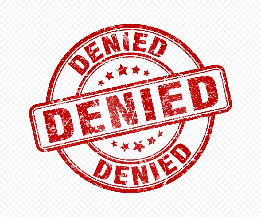 Round Denied Stamp Icon